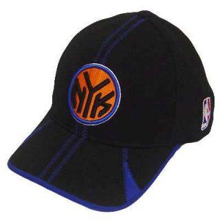NBA New York Knicks Flex Fit Black Blue Reebok Hat Cap
