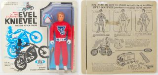 Evel Knievel 1972 Ideal Figure Red Suit RARE Helmet