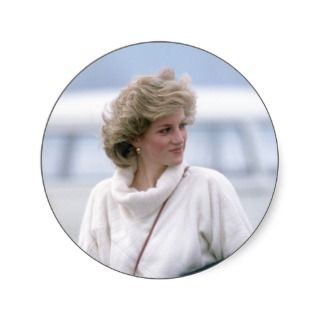 No.31 Princess Diana arrives at Zurich Airport in Stickers