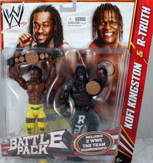 Kofi Kingston R Truth WWE Battle Packs 20 Mattel Toy Wrestling Figures