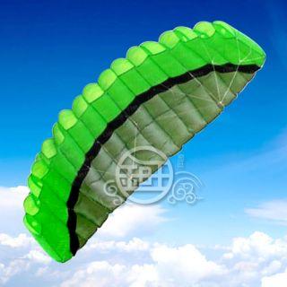 5M Kite 2 Line Green Stunt Parafoil Power Sport Kite Outdoor Toys