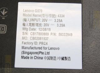 Lenovo G570 4334ECU 15 6 Notebook Pentium Dual Core B970 4GB 500GB