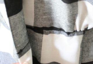 Vtg 80s Kono Dress Women 3 4 Small Black White Check Wrap Hook Clasp