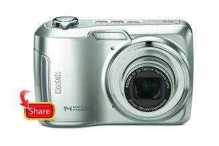 WOW New Kodak EasyShare C195 14MP Digital Camera Silver Case 25x Total