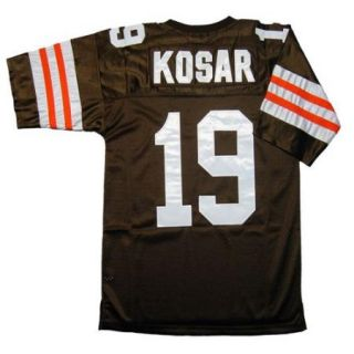 Bernie Kosar 19 Cleveland Browns Throwback Brown Sewn Mens Size Jersey
