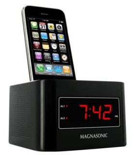 Magnasonic Digital FM Alarm Clock Radio Speaker Dock for iPod iPhone