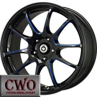 18 Black Konig Illusion Wheels Rims 5x100 5 Lug Jetta Golf Prius TC TT