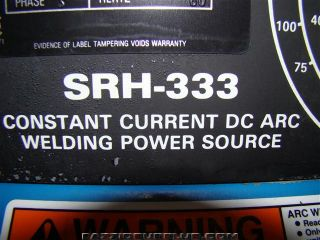 Miller DC Arc Welding Power Source 3 Phase SRH 333 KB060447