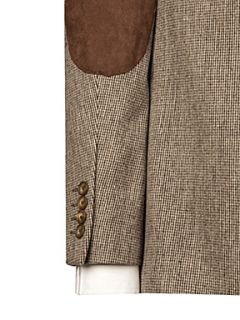 Peter Werth Burgess dogtooth tweed blazer Sand