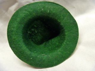 Vintage Knox Hats Salesmans Sample Miniature in Hat Box Green Felt