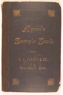 RARE 1880 Salesmans Catalog Victorian Calling Cards