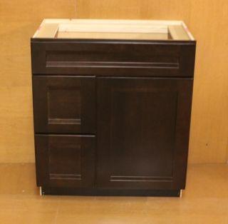Kraftmaid Pepper Corn Cherry Bathroom Vanity Sink Base Cabinet Set 30