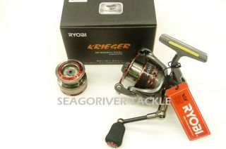Ryobi Krieger 2000 Spinning Reel w Spare Spool Latest New Model