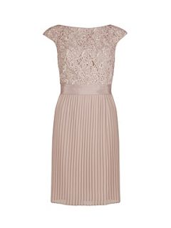 Ted Baker Aliana lace detail button back dress Cream