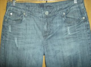 Kut from The Kloth Distressed Straight Leg Jeans 12 RN 58539