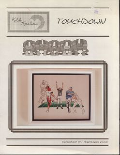 Cross Stitch Booklet Touchdown Football Players Sports