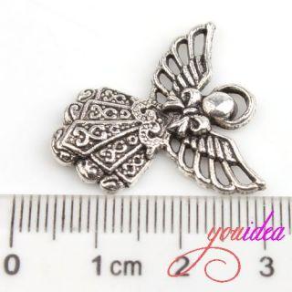 Tibetan Silver Fairy Girl Charm Pendant Beads FIT Jewelry MAKING G613
