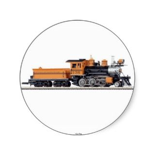Steam Locomotive Mogul Sticker