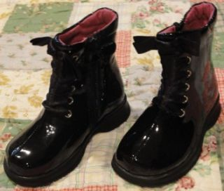 Amour Black Patent Fashion Boots 6 Toddler