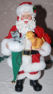 Kurt Adler Fabriche Christmas Santa Kitten Puppy Furry Friends Mint in