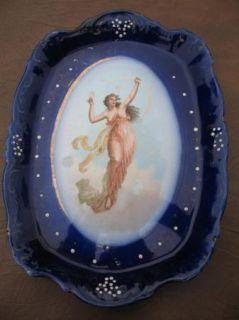 La Belle Flow Blue Grecian Angel Girl Plate Arcade B L AssN 1906 WP