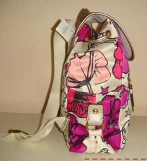 Coach Kyra Floral Print Stars Hearts Backpack Dust Bag 19284 Pink Gold