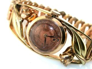 Retro Vintage Ladies La Salle Expandable Gold Filled Wrist Watch