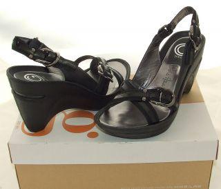 Cole Haan G Series Air Kyla Sandals Black Comfort Sling Back Heels