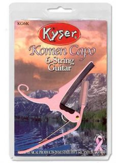 Kyser Quick Change Pink Acoustic Electric Guitar Capo KG6K New