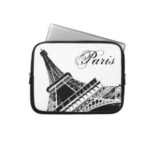 Paris, The Eiffel Tower Laptop Sleeves