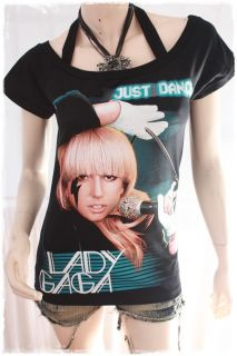 Lady Gaga Punk Dance Rock DIY Short Sleeve Tee Top