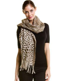 La Fiorentina Brown Reversible Print Wool Wrap