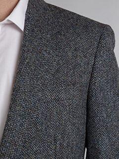 Harris Tweed Single breasted blue fleck blazer Blue