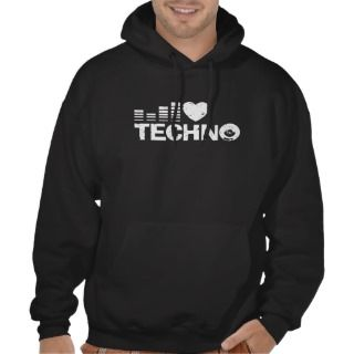 Love Techno Hooded Pullovers
