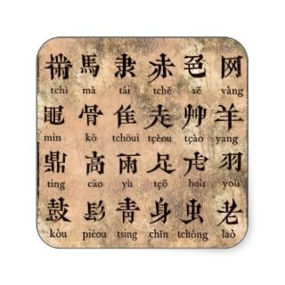 Chinese Alphabet Sticker