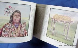Indians of America Fazzini Color 1935 Whitman Book