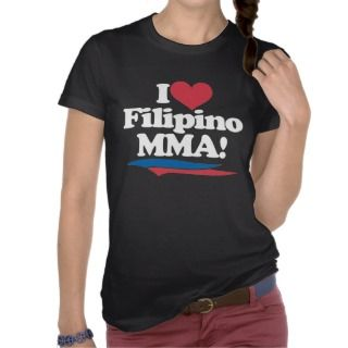 Love Filipino MMA   White Tshirts