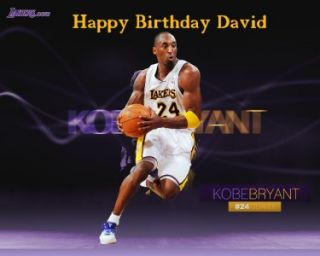 Lakers Kobe Bryant Edible Cake Topper Personalized