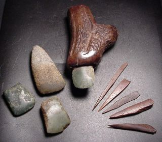 Lake Station Museum Lot of 8 Neolithic Tools of The Palafittes RARE