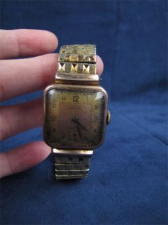 Vintage Lachine Wristwatch Speidel Band Copper Metal