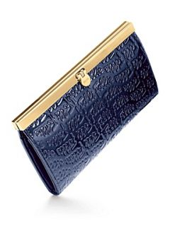 Folli Follie Logomania Blue Leather Wallet