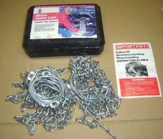 Laclede Sierra Cable Link Radial Tire Chains 1926