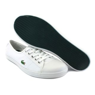 Lacoste Ziane 7 for Womens Laced Canvas Plimsoll White Green