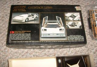 Lamborghini Countach LP500 High Technical Model Car Series 1 24 Kit
