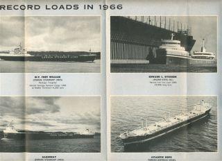 Lakehead Harbour Brochure Map Port Arthur Fort William Ontario Canada