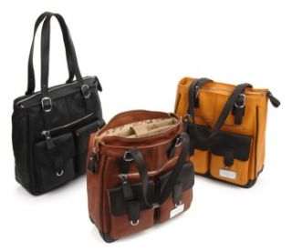 Moonsus Elixar Ladies Leather Laptop Tote Bag