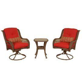 Outdoor Patio Furniture La Z Boy 3 Piece Bistro 2 Swivel Chairs 1