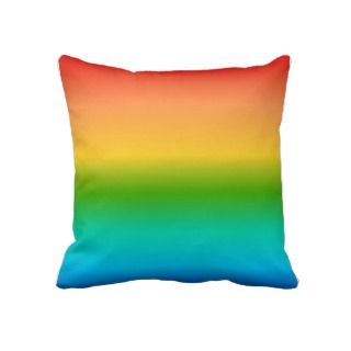 Colorful Rainbow color gradient Pillows