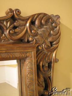 2638 Maitland Smith Labarge Ornate Large Carved Mirror