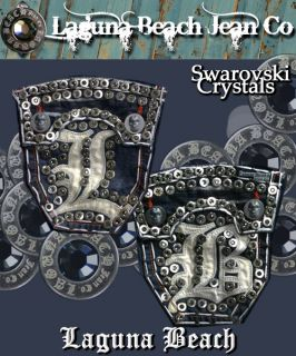 Laguna Beach Jeans Men Magnum White Destroyed Crystal